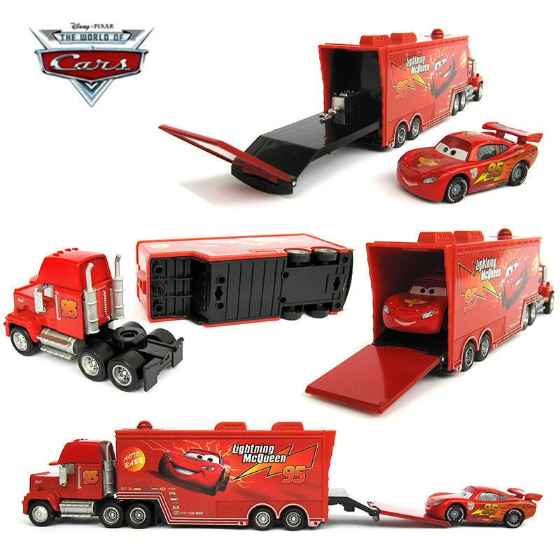 9 39 Gbp Cars 2 Lightning Mcqueen Racer Car Mack Superliner Truck Kid Toy Collection Set Ebay Collectibles Pixar Cars Mack Trucks Toy Car