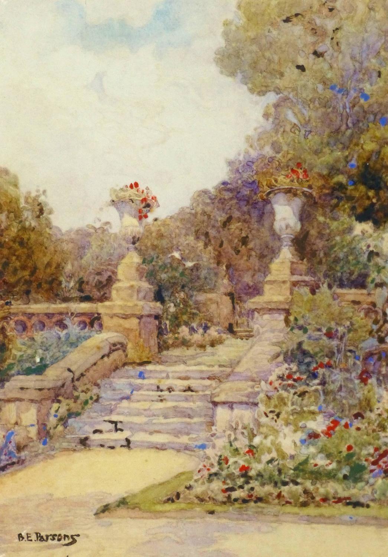 Unknown Vintage Watercolor Landscape Country Glamour 1stdibs Com Watercolor Landscape Landscape Art