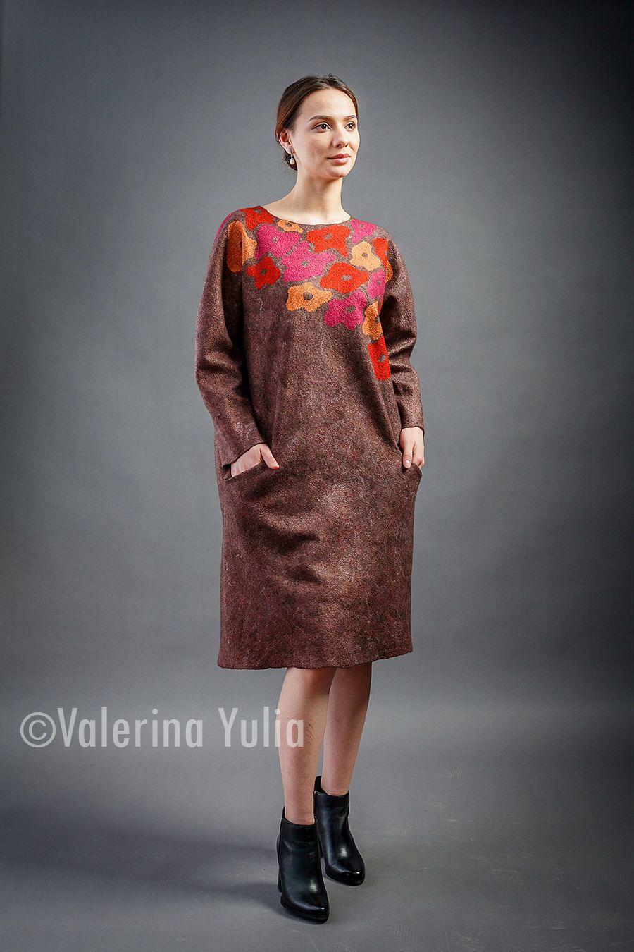 06c18ab2b40 Платье валяное