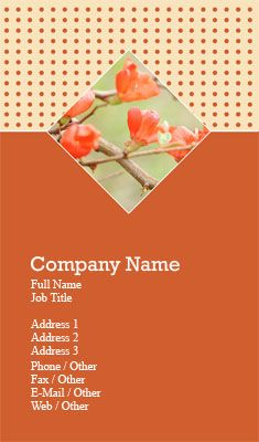 Orange florist business card template business card ideas orange florist business card template reheart Image collections