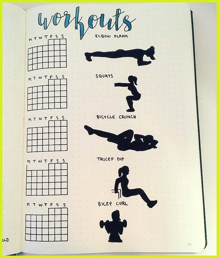 Bullet Journal Page Ideas for Tracking Health and Fitness Goals #Bullet #Fitness #Fitness food logo...