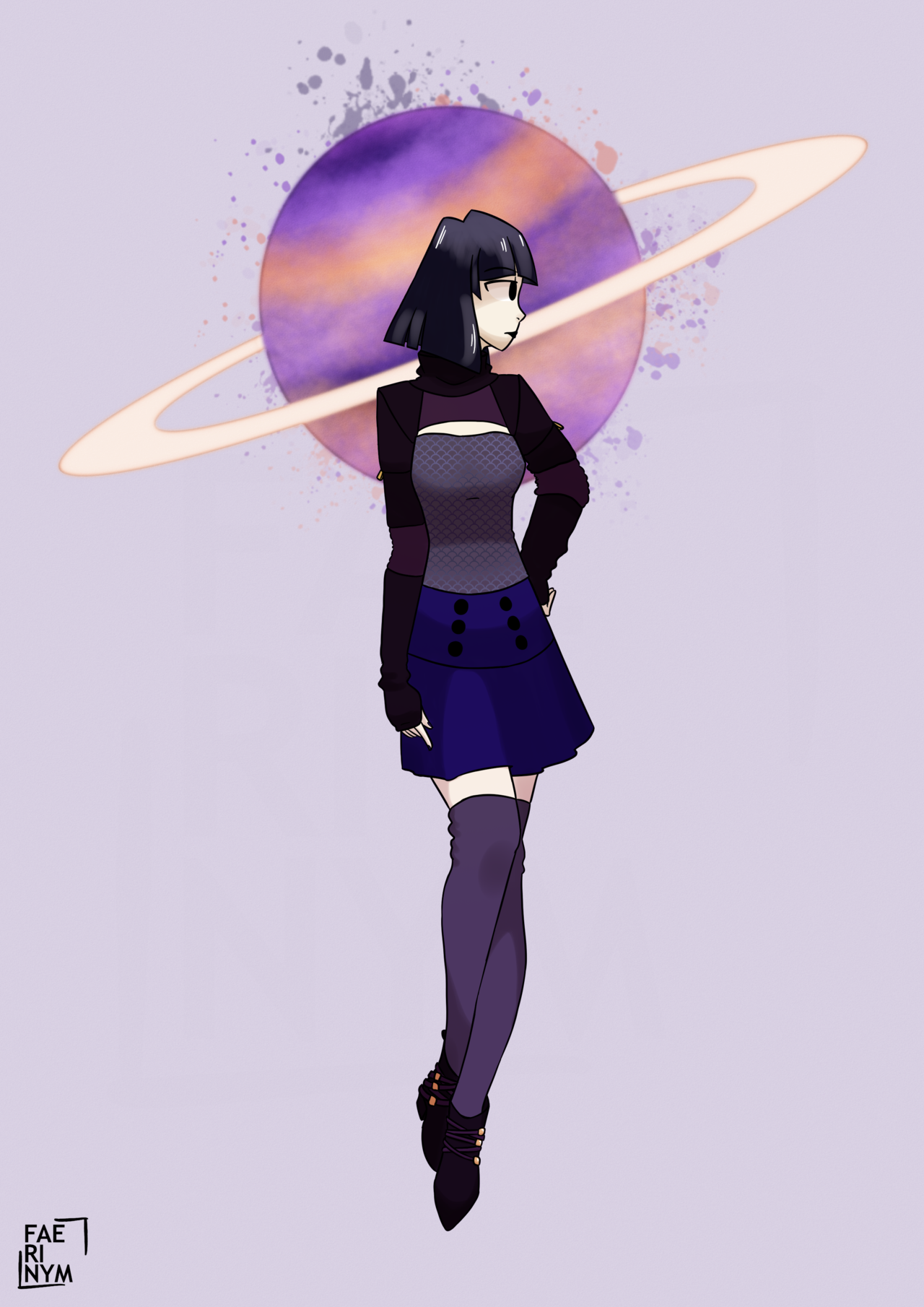 saturn but in my fave goth clothing brand -w- (art on fae's blog??? in 2019???? it's more likely than you think) #wfaves