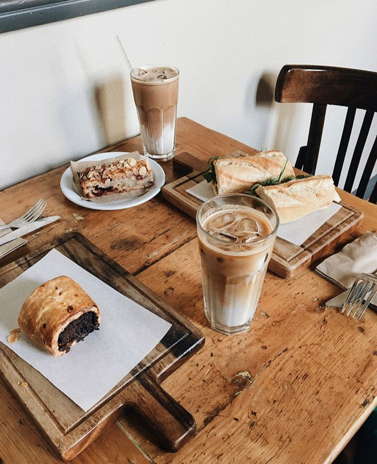 Pin By Hill Zora On Breakfast Coffee Aesthetic Food Food Coffee Shop Aesthetic