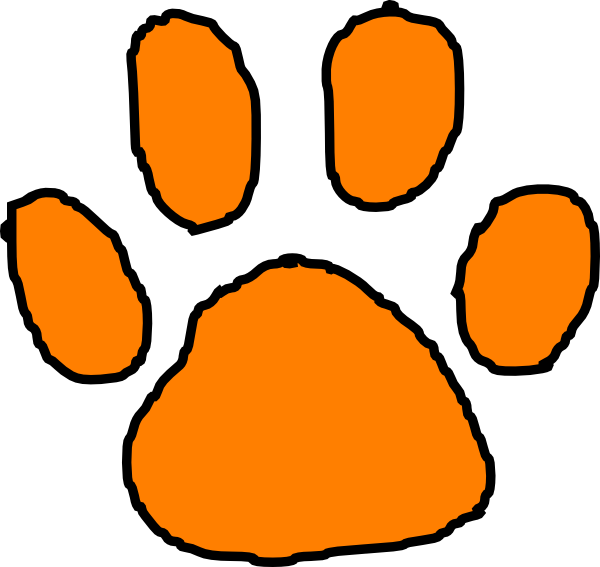 tiger paw print stencil clipart best baby pinterest tigers rh pinterest ca clemson tiger paw clip art tiger paw prints clip art