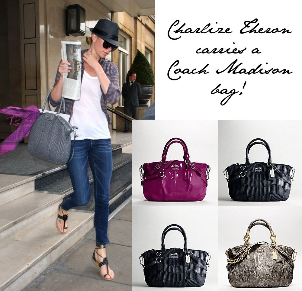 Charlize Theron Carries A Coach Madison Bag