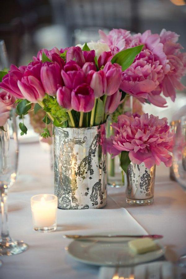 Super Tolle Rosa Deko Mit Tulpen Fruhling Pinterest Blumen