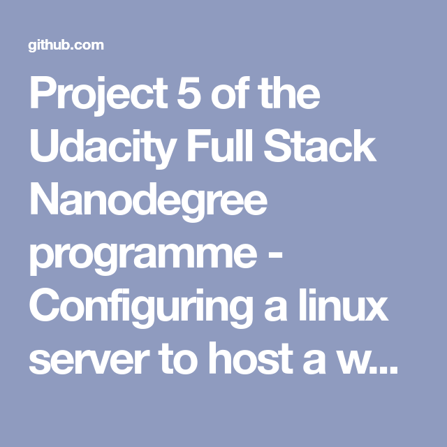 Project 5 of the Udacity Full Stack Nanodegree programme