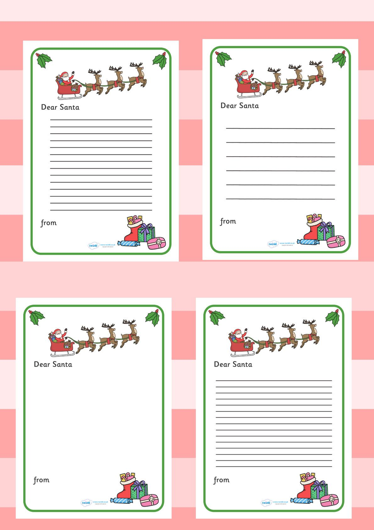 Twinkl Resources Gt Gt Letter To Santa Gt Gt Printable Resources