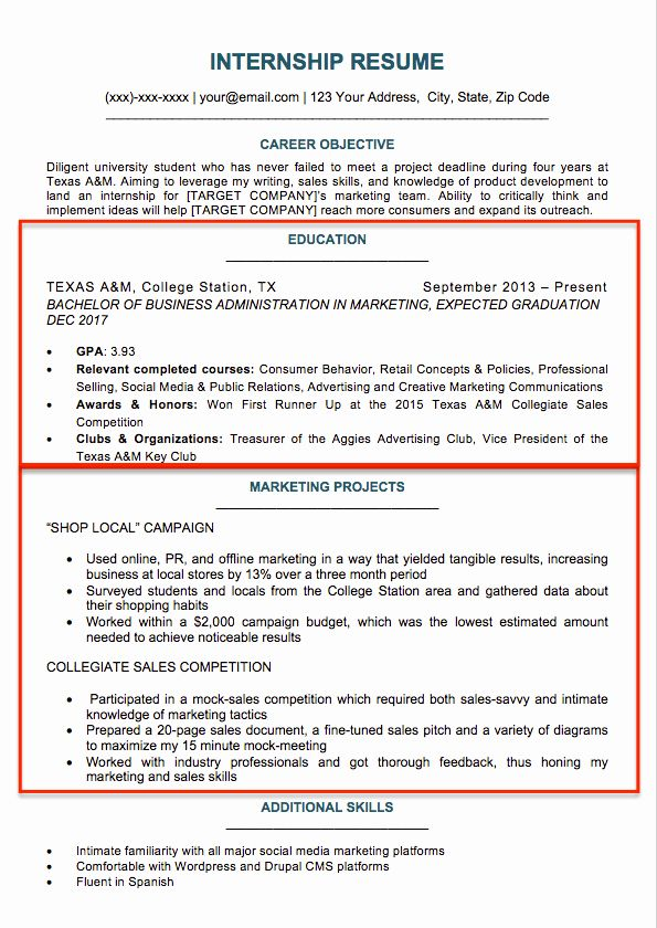 Resume Template for College Student Inspirational 17 Best ...