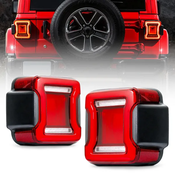 Infinity Series LED Taillights with Red Lens For 2018+ Jeep Wrangler JL from pinterest 1/10/2020
