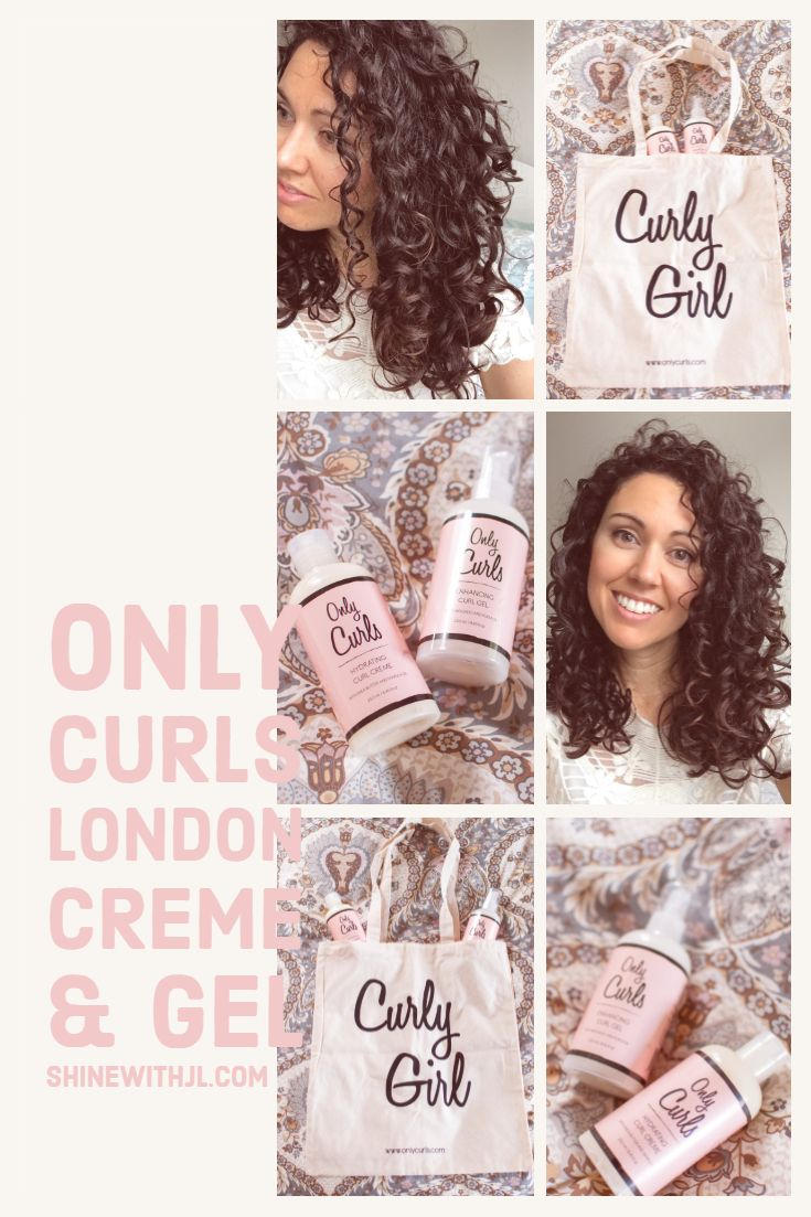 Only Curls London Hydrating Curl Creme And Enhancing Curl Gel