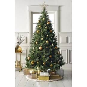 7.5ft Unlit Artificial Christmas Tree Virginia Pine : Target | A ...
