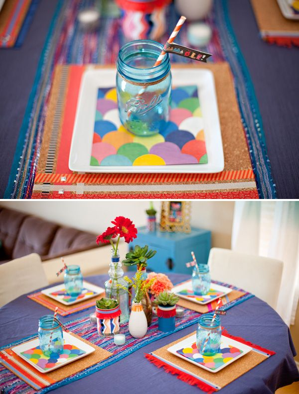 Colorful #fiesta inspired tablescape and printables from HWTM
