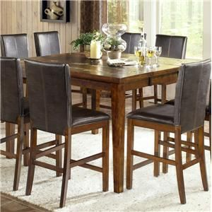 Davenport  Transitional Counter Height Table with Slate Inlay by Steve Silver at Belfort Furniture