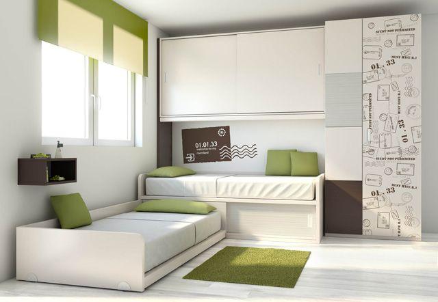 Cama compacta infantil quarto infantil Pinterest Dormitorios