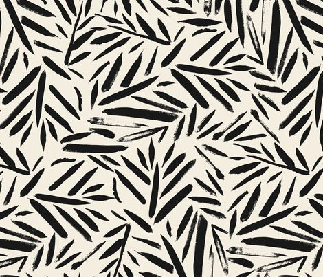 not so black and white leaves fabric by on spoonflower custom fabric pattern