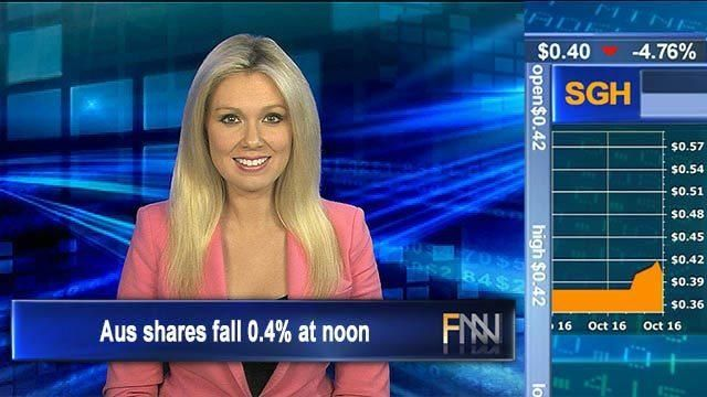 Healthcare hobbles Aus shares fall 0.4% at noon - Finance News Network