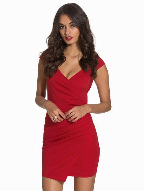 4d362a9a7f34 Wrap Bodycon Dress - Nly One - Röd - Festklänningar - Kläder - Kvinna -  Nelly.com