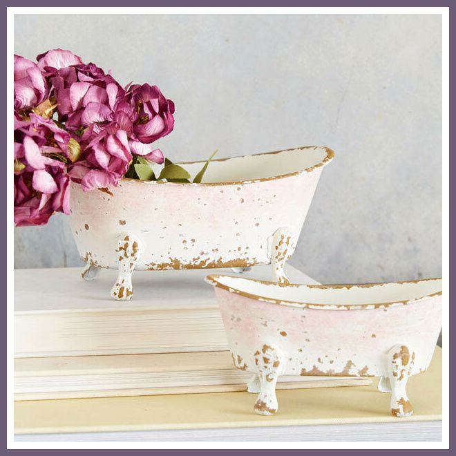 Adorable Miniature Clawfoot Tub Decor Set Of 2 Will Serve Perfectly To Hold Soap On The Side Of A Clawfoot Farmhouse Style Decorating