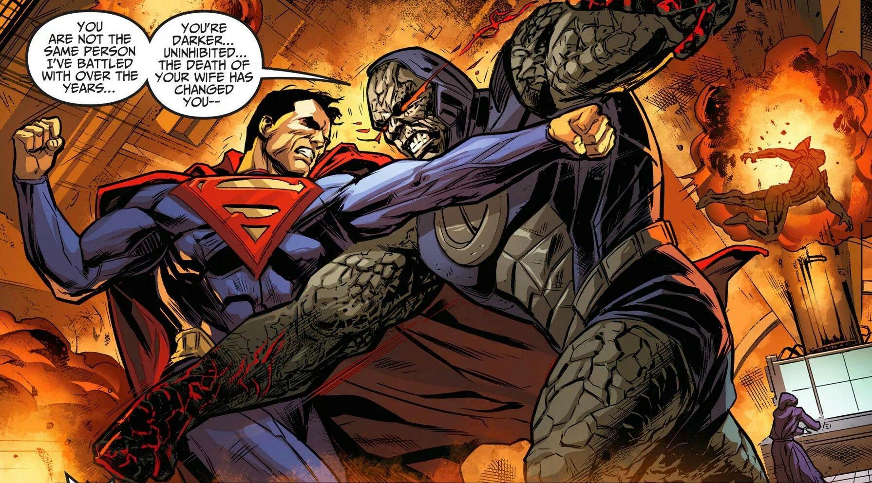 Darkseid fights Superman