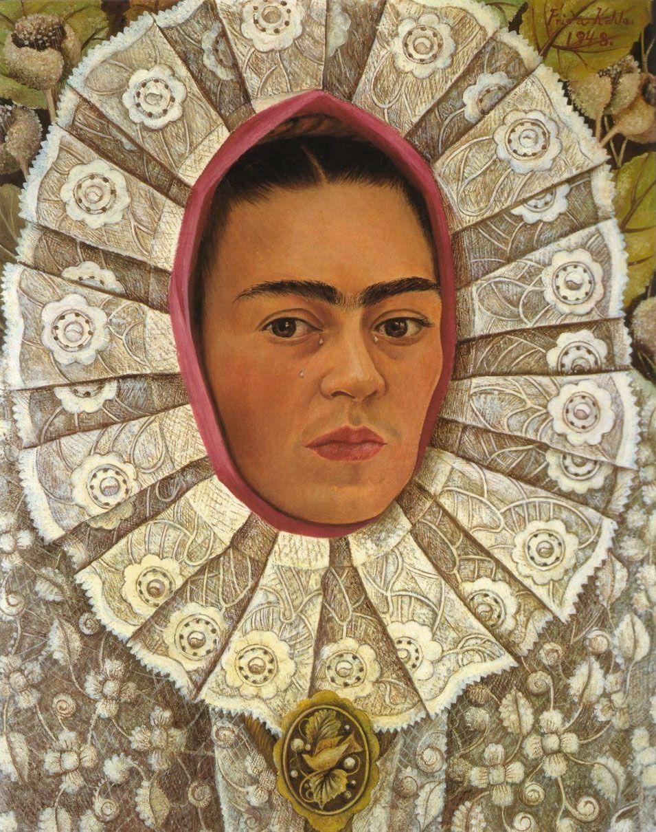 L'autoritratto del 1948 è il secondo in cui Frida Kahlo appare vestita con il tradizionale abito Tehuana e l'unico quadro che ha dipinto in quell'anno a ca