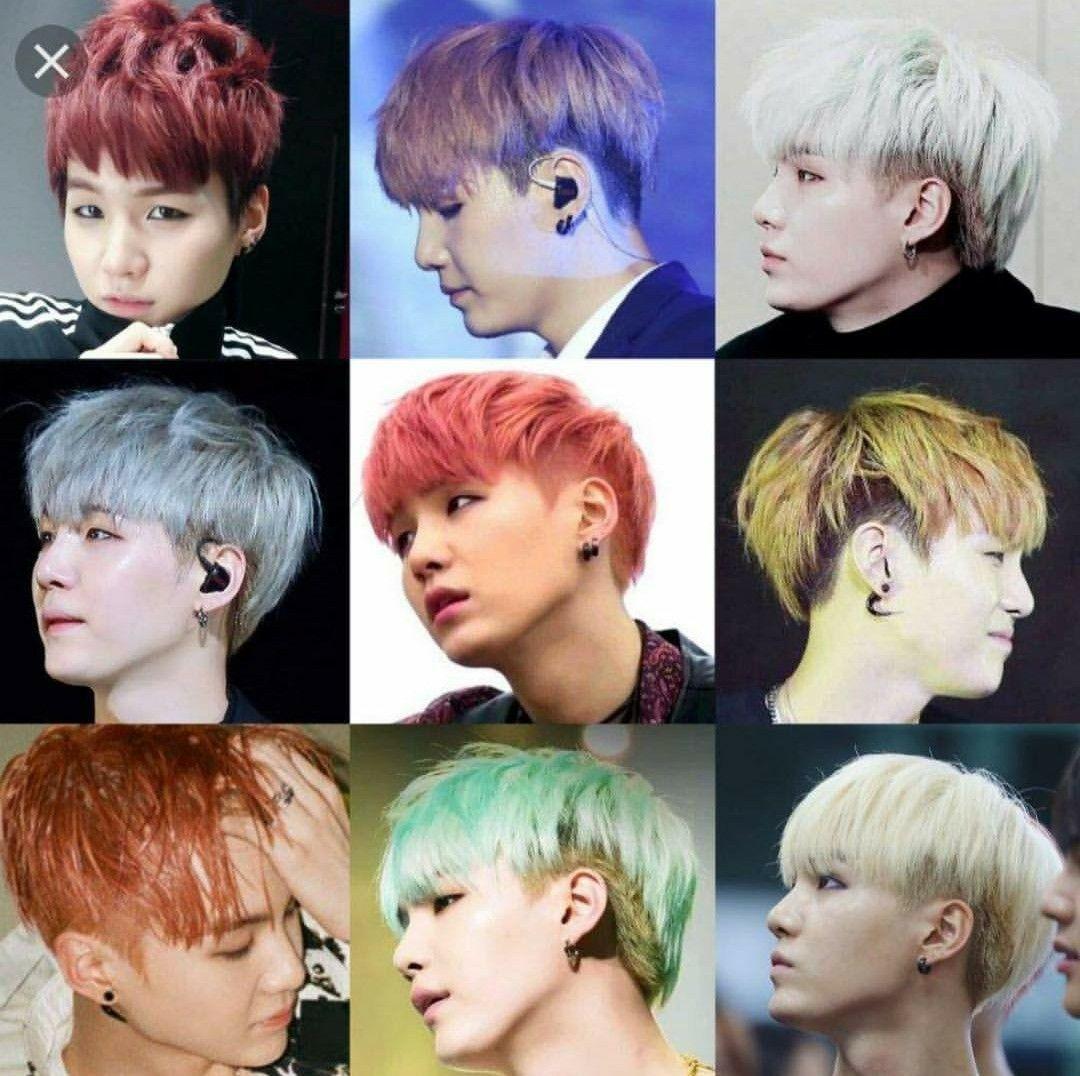 Yoongi S Undercut Bts Hair Colors Bts Hairstyle Undercut Hairstyles