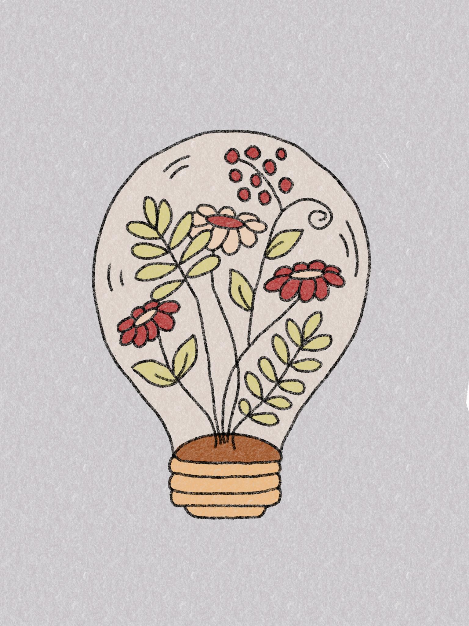 Cute Lightbulb Drawing