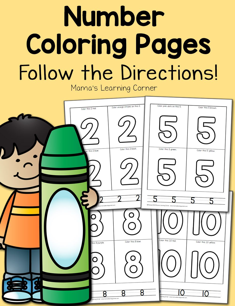 Number Coloring Pages For Preschool Numbers Preschool Kids Learning Activities Preschool