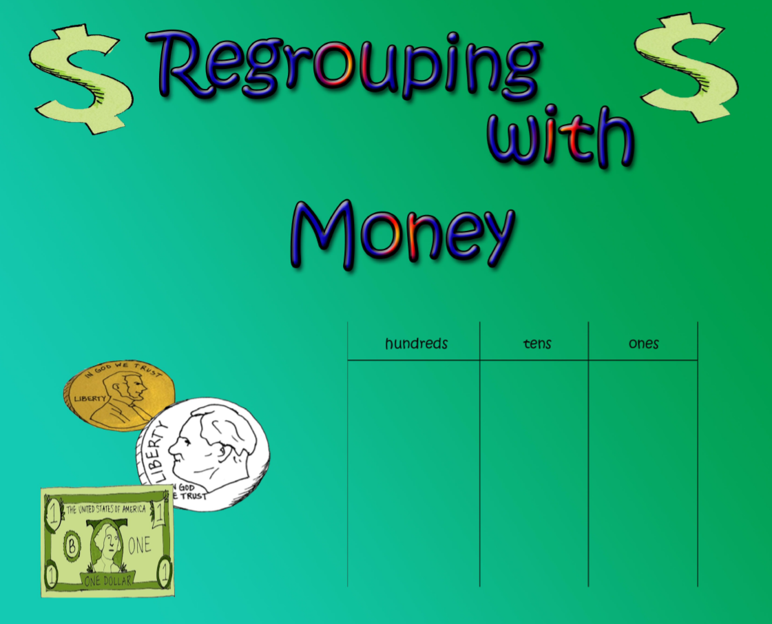 Subtraction Regrouping with Money | Subtraction regrouping ...