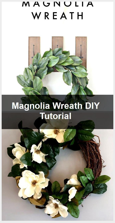 Photo of Magnolia Wreath DIY Tutorial,  #DIY #Magnolia #Tutorial #Wreath