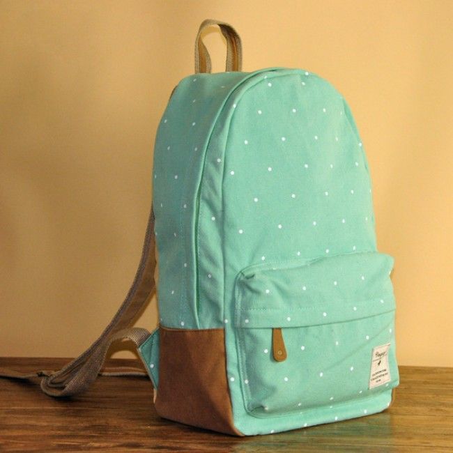 Fresh Cute Dot Print Canvas Backpacks for only $38.99 ,cheap ...