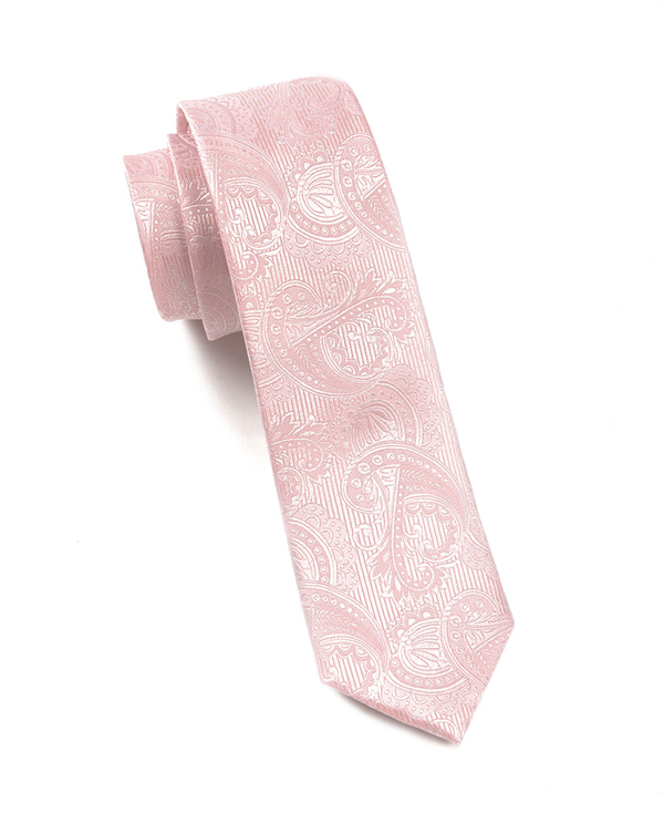 Boys tie small - Solid twill in light coral pink Notch ZYaT06oS2
