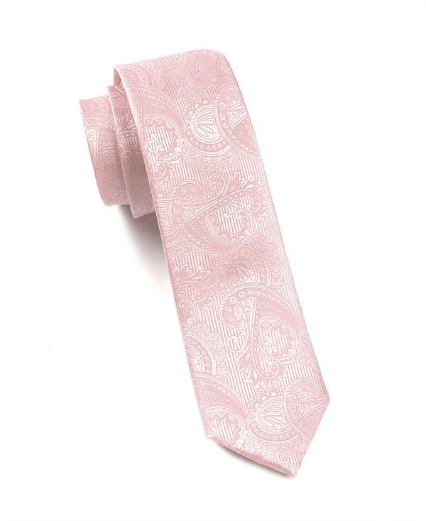 Cravate Garçons Petit - Sergé Solide Encoche Rose Corail Lumière pTAn5e1j