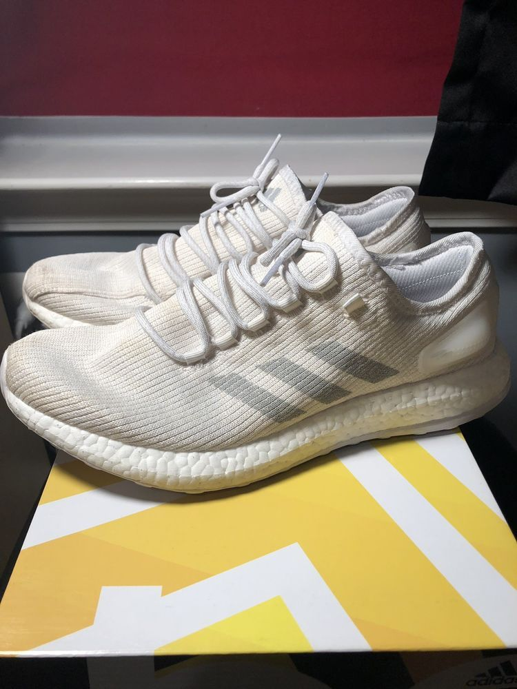 4097e8919 Adidas Pure Boost Clima White White Size 12 Mens With Box Worn  fashion   clothing  shoes  accessories  mensshoes  athleticshoes (ebay link)