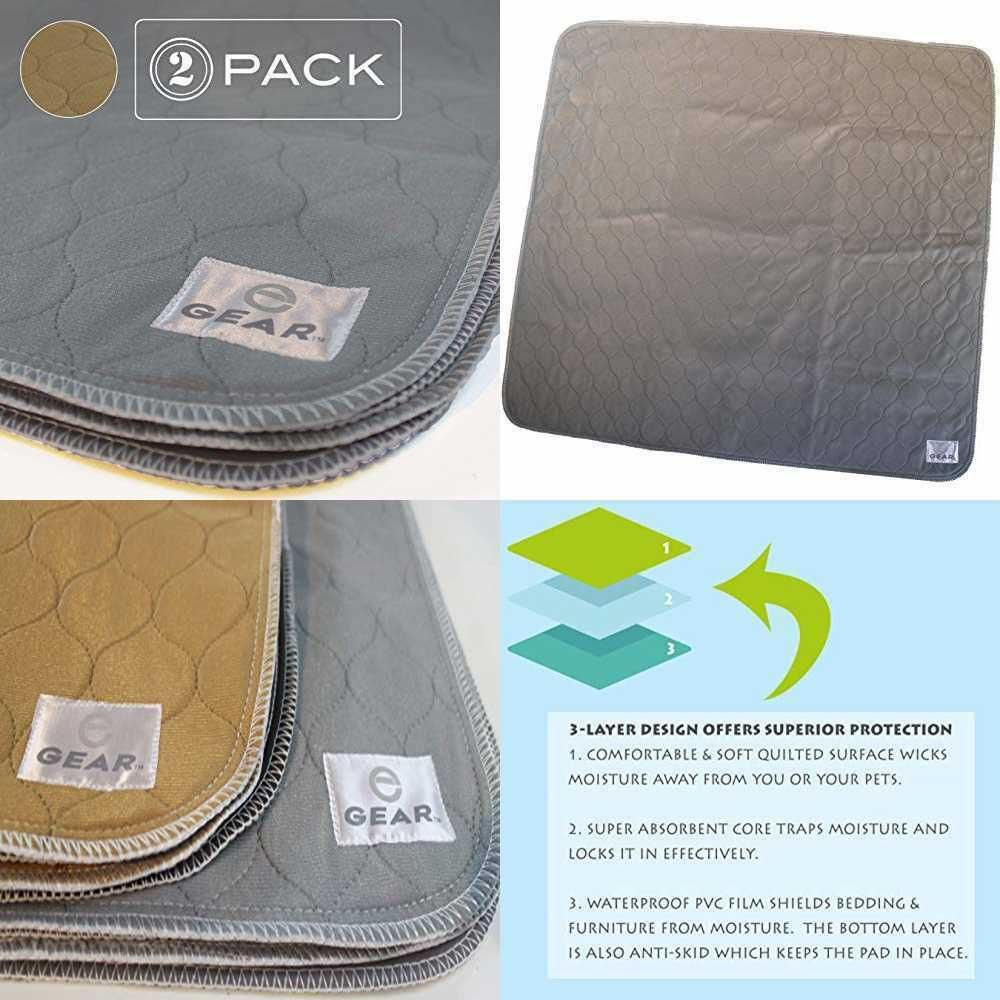 Washable Pee Pads For Dogs & Cats Waterproof Reusable