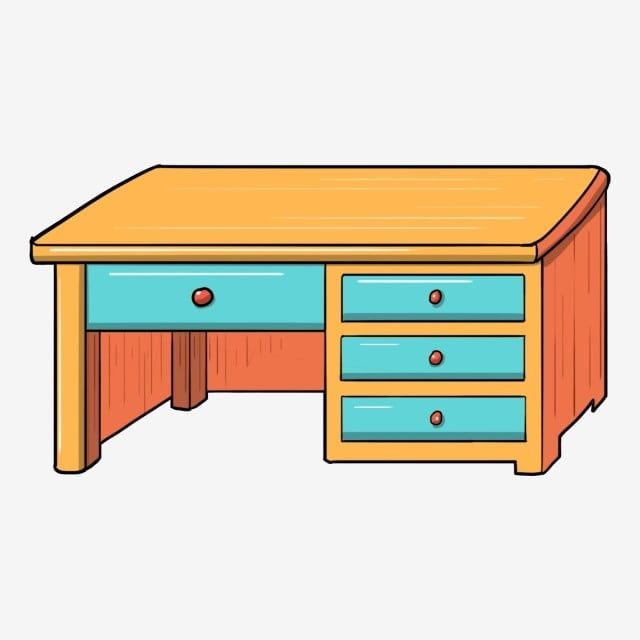 Yellow Desk Hand Drawn Desk Cartoon Desk Beautiful Desk Blue Drawer Furniture Home Improvement Student Desk Png Transparent Clipart Image And Psd File For Fr How To Draw Hands Blue Drawers
