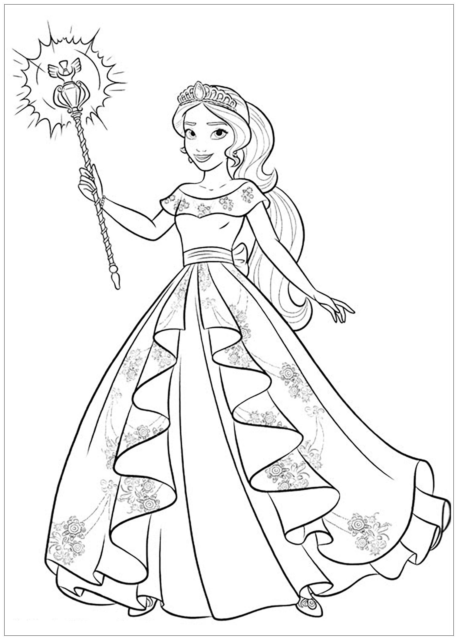 Princess Elena Coloring Page Youngandtae Com Princess Coloring Pages Disney Coloring Pages Cartoon Coloring Pages [ jpg ]