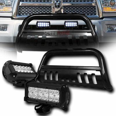 2010 2015 Dodge Ram 2500 3500 Front Bull Bar Guard 36w Led Light Bar Black Dodge Ram Dodge Bull Bar