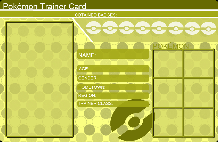 Pokemon Trainer Card Template Yellowkhfant On Deviantart With Quality Pokemon Trainer Card Template In 2021 Pokemon Trainer Card Pokemon Card Template