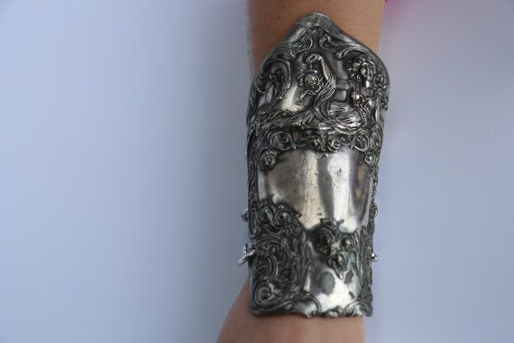 Antique Victorian Silverplate Gladiator Armlet by CelebLuxe