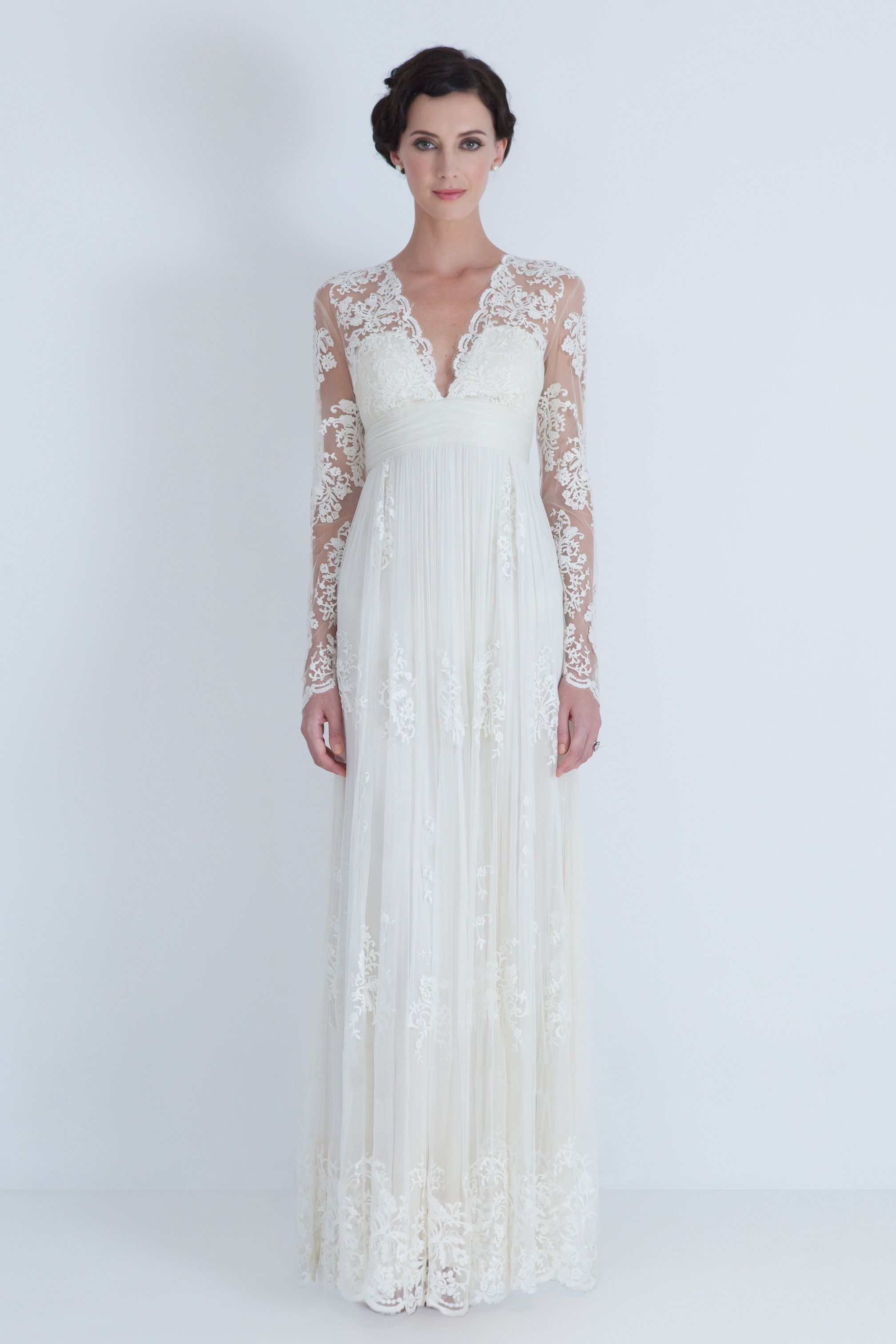 Long sleeved lace wedding dress  Long Sleeved Lace wedding Dress  The uWu day  Pinterest  Lace