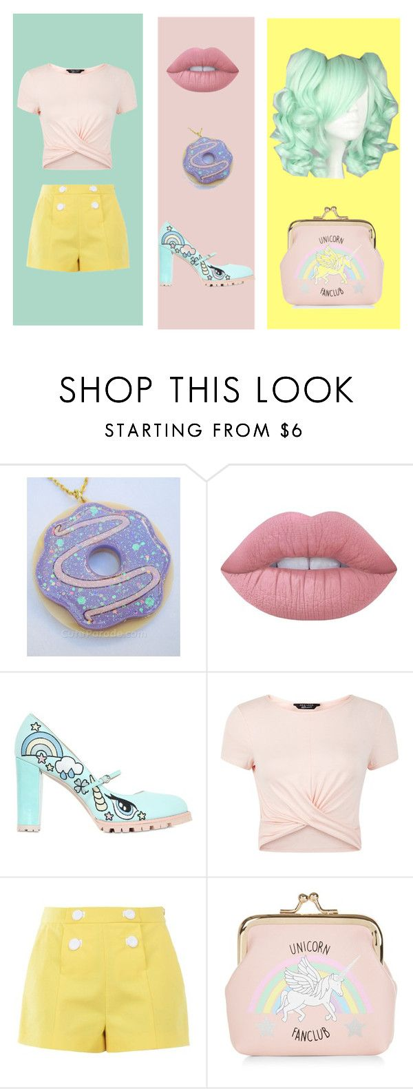 Unicorn Kisses! by cjmax on Polyvore featuring New Look, Boutique Moschino, Minna Parikka and Lime Crime