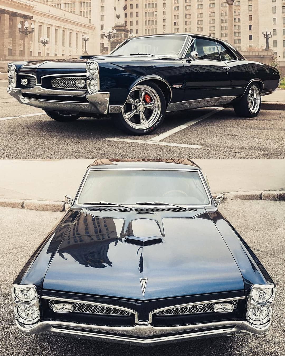 "🇺🇸 Classics Daily 🇺🇸 on Instagram: ""'67 Pontiac GTO! _ @pontiac_gto_1967 #pontiac #GTO #americanmuscle #musclecar  #classic #restomod #speed #vehicles  #cargram #carstagram…"""