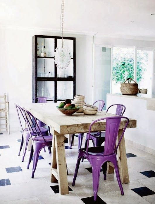 purple dining chairs Interiors Pinterest Purple dining chairs