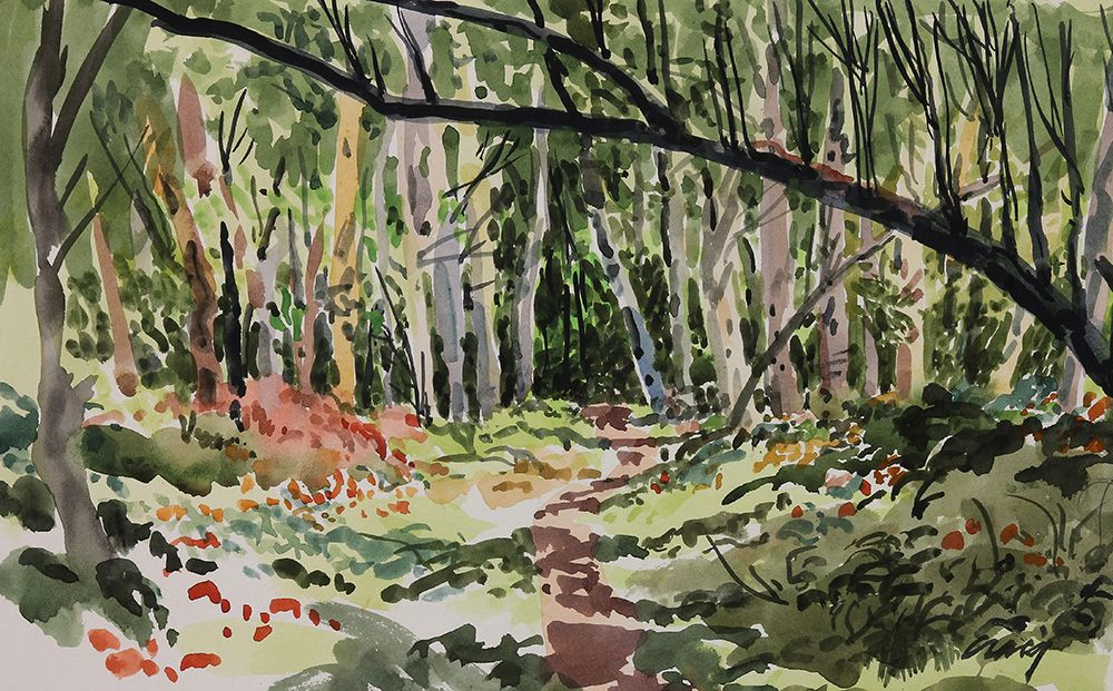 """Bryn Craig - """"Spring Forest"""" Watercolor on paper, 2012. #art #bloom #exhibition #painting #artist #gallery #groupshow"""