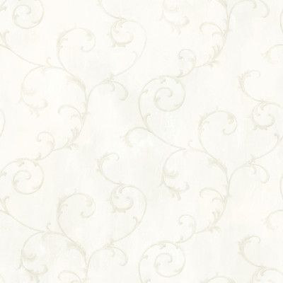 "Brewster Home Fashions Meadowlark Mimosa 33' x 20.5"" Scroll 3D Embossed Wallpaper Color: Ivory"