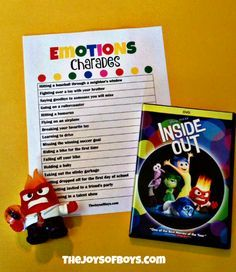 We LOVED Inside Out! If you did too, you'll love this printable kids game too! Play this Emotions Charades game with Inside Out Characters to teach your children how to express their emotions while having a blast at the same time! #InsideOutEmotions (ad)