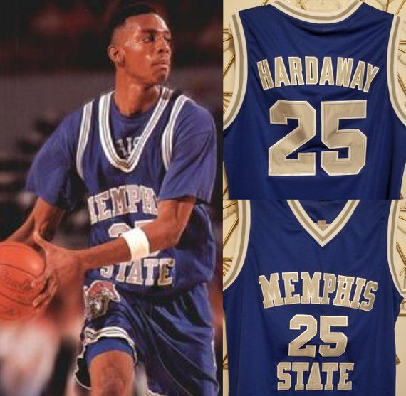 3bb3274f8 Anfernee Penny Hardaway Memphis Tigers College Basketball Jersey Orlando  Magic Lil Penny Blue Chips