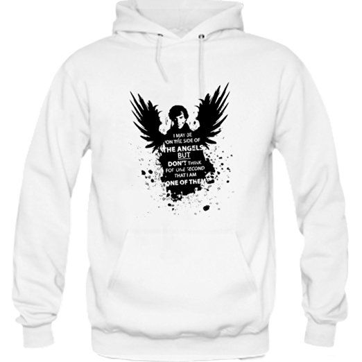 Angel Sherlock Hoodie White     * Fabric : 100% preshrunk cotton * Available Color : Black and White * Size : Small, Medium, Large, X-Large, XX-Large * Professionally designed & printed #clothing #apparel #hoodie 3SherlockHolmes #SherlockHolmesQuootes #QuotesApparel #SherlockHolmesApparel