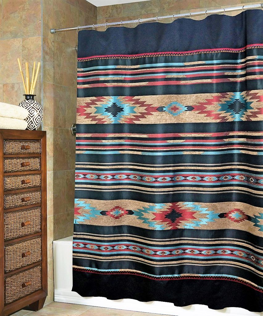 Ahote Native American Shower Curtain
